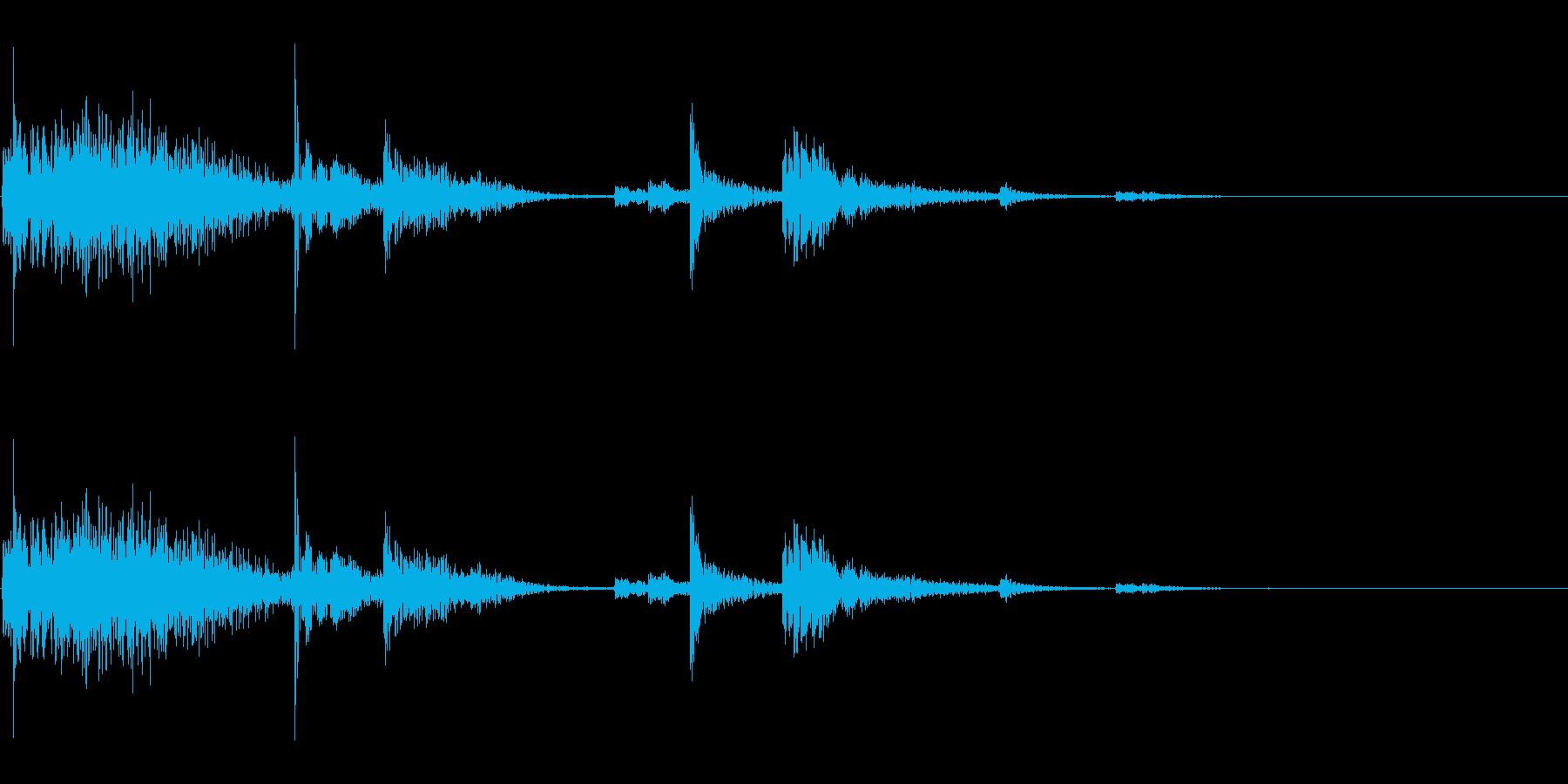 【生録音】鎖を軽く引っ張る音 1の再生済みの波形
