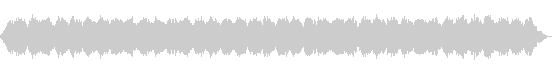 夜の睡眠安眠曲アンビエント/秋の虫の声の未再生の波形