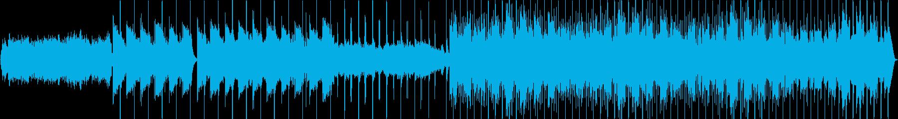 暖かい雰囲気のゆっくり電子ビート曲の再生済みの波形