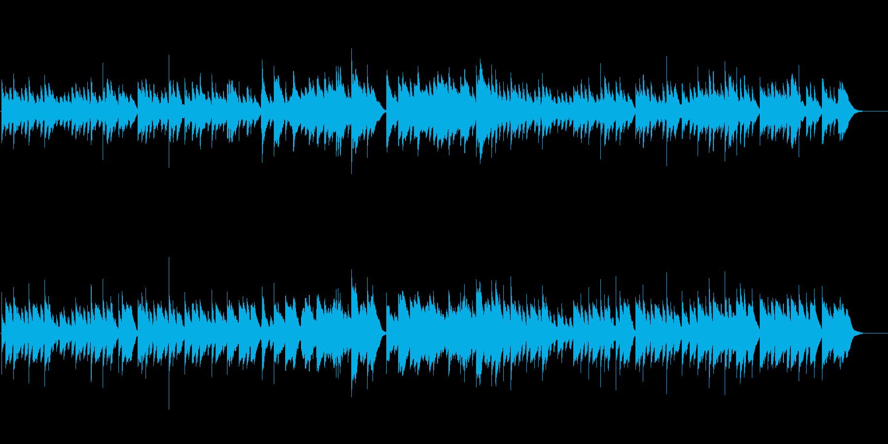 ほんわか優しくホロっと泣けるオルゴール曲の再生済みの波形