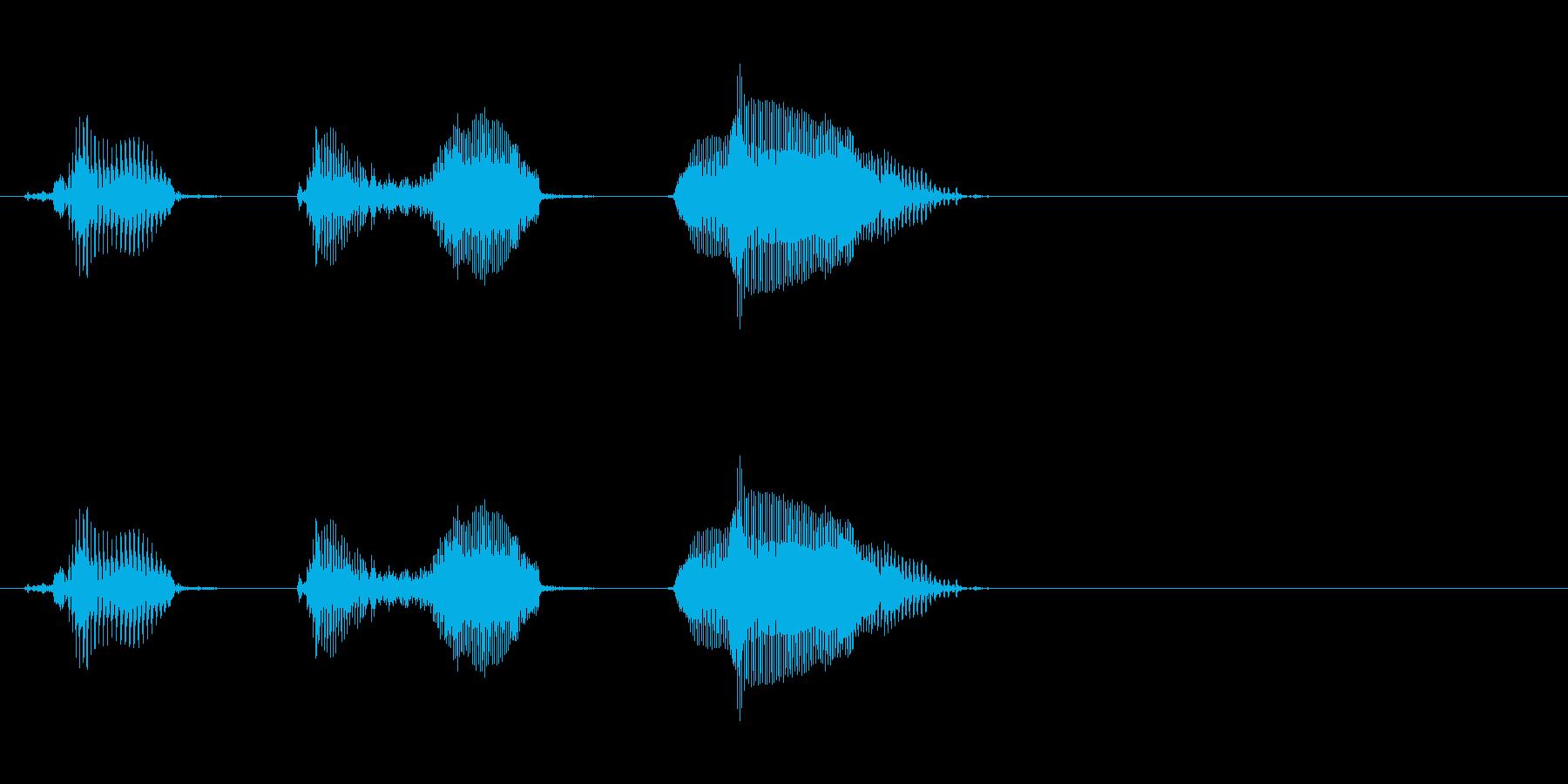 結果発表(可愛い系)の再生済みの波形