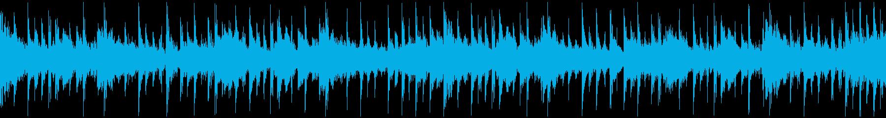 ピアノの切なく綺麗なメロディBGMループの再生済みの波形
