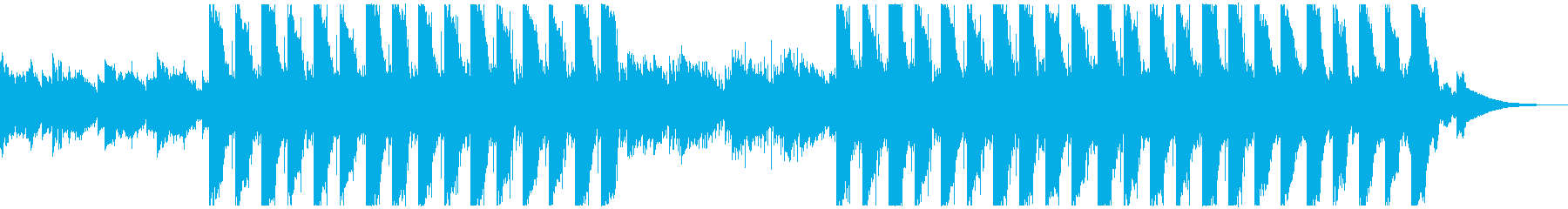 神秘的なビートの再生済みの波形