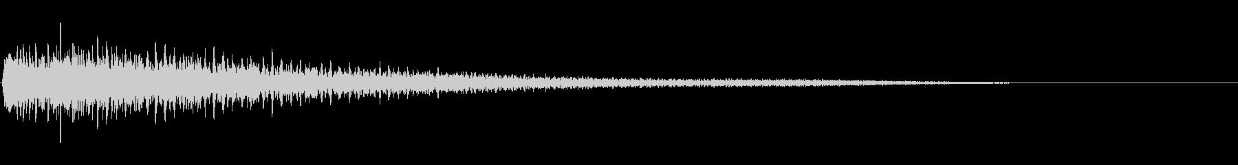 【ピアノ生演奏】シンプルなジングルの未再生の波形