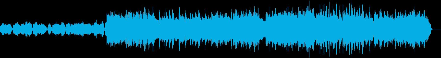 上昇感のあるサックスのバラードの再生済みの波形