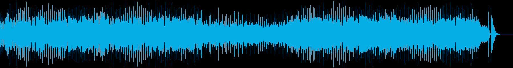 ビッグバンド風の賑やかなブルースロックの再生済みの波形