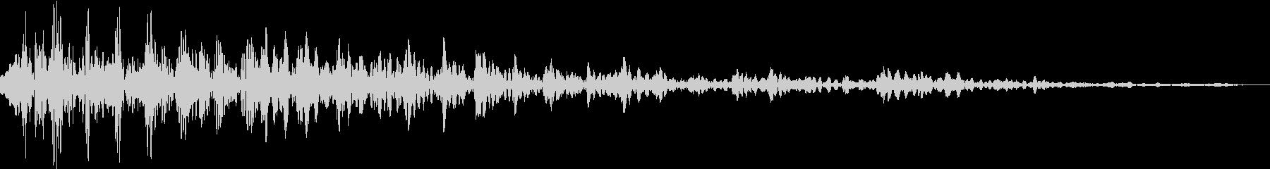 ライオンの鳴き声(唸り声)の未再生の波形