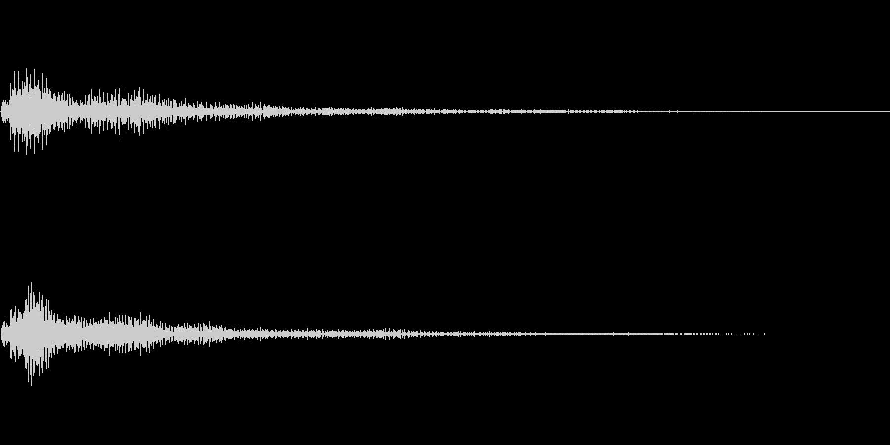 ファンタジー かわいい効果音 決定系11の未再生の波形