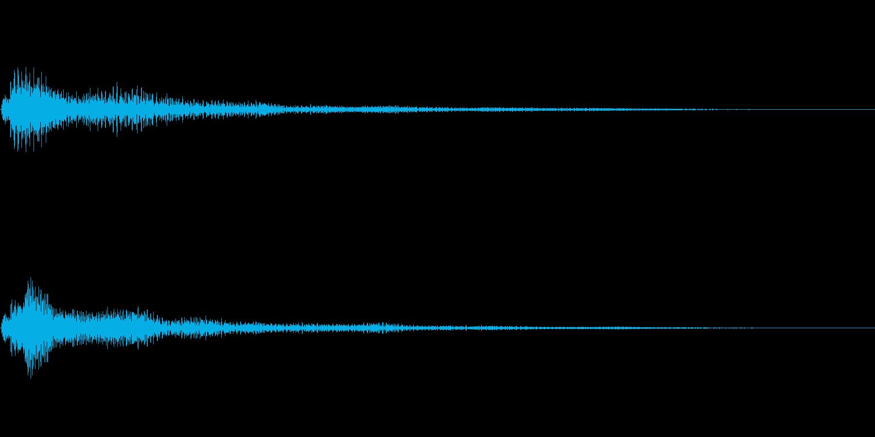 ファンタジー かわいい効果音 決定系11の再生済みの波形