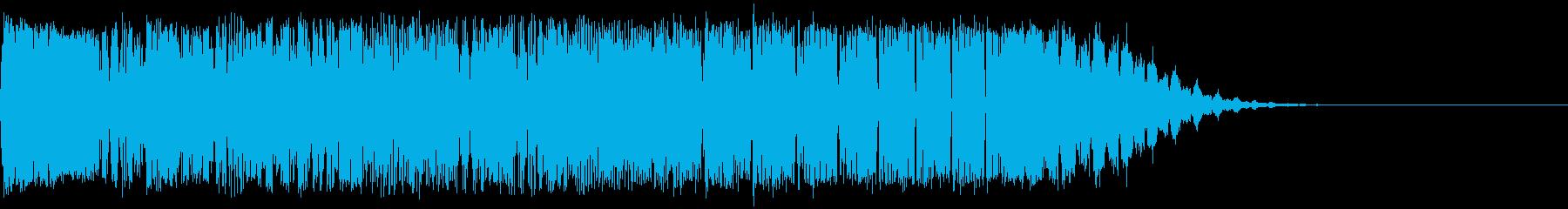 力が収束する時の音:機械的の再生済みの波形
