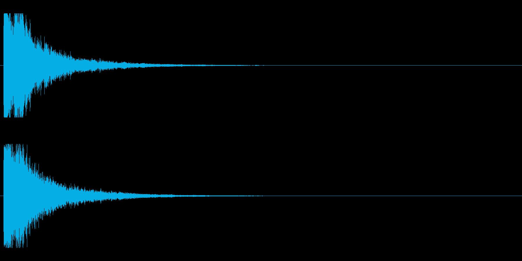 レーザー音-04-1の再生済みの波形