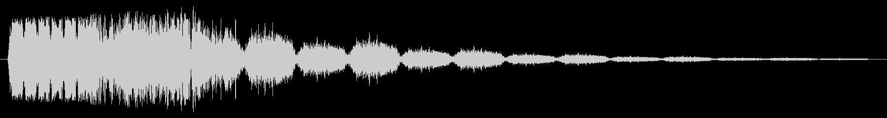 ハンマーヒットの未再生の波形