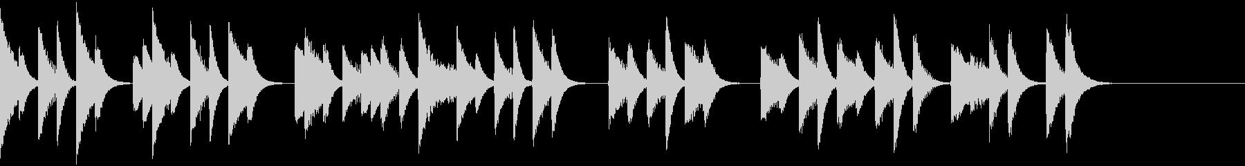 軽やかでコミカルなピアノジングルの未再生の波形