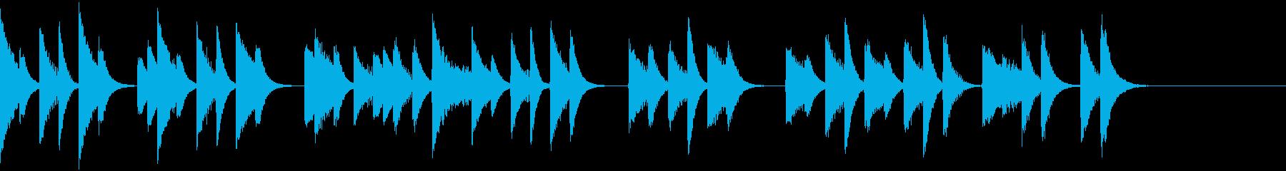 軽やかでコミカルなピアノジングルの再生済みの波形