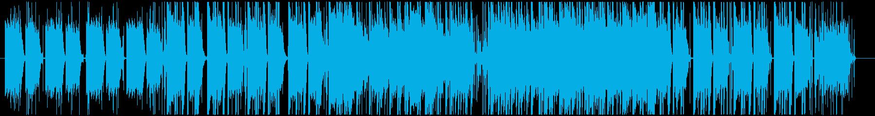 Lo-fiHipHop風なピアノ曲の再生済みの波形