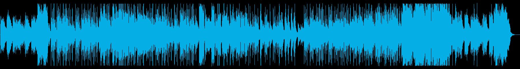 美しく涼しげな弦管楽器シンセサウンドの再生済みの波形
