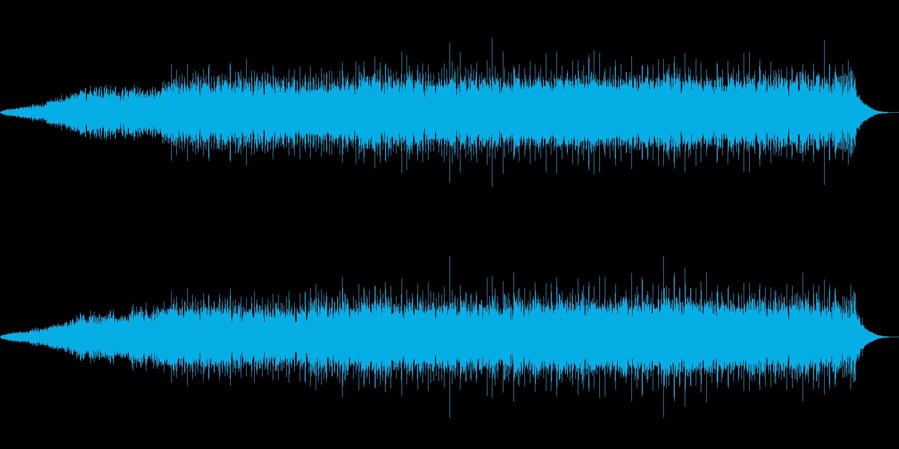 レトロシンセ系のアンビエントなポップスの再生済みの波形