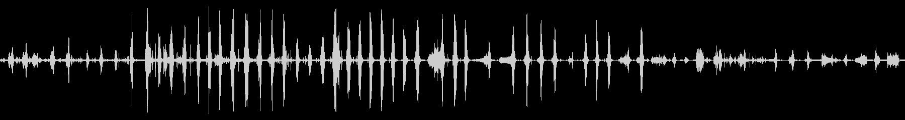 ピットブルドッグの綱引きの未再生の波形