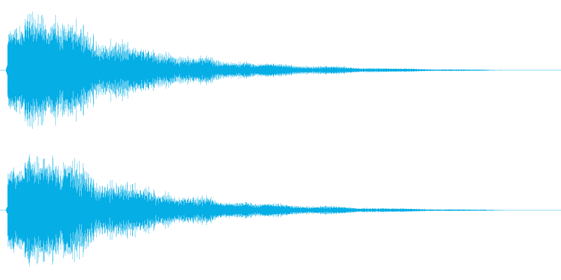 キラーン(下げ系)の再生済みの波形