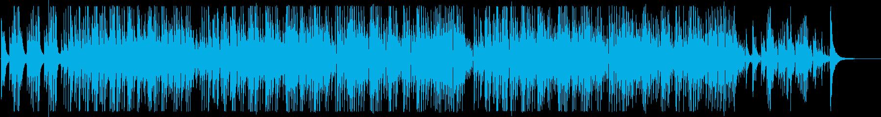 2本のボサノバギターBGM Longの再生済みの波形