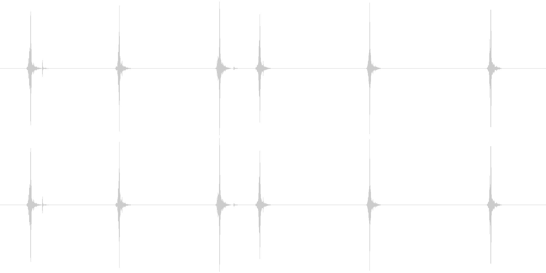 ライター(こする音)の未再生の波形