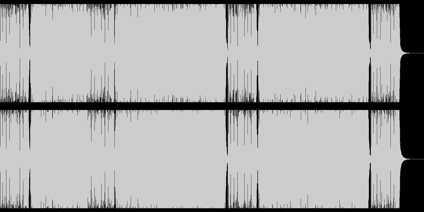 ハードロック・ギター・スポーツ・ユニゾンの未再生の波形