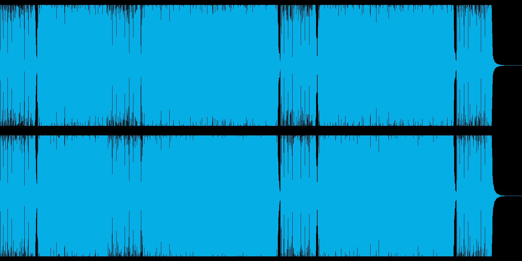 ハードロック・ギター・スポーツ・ユニゾンの再生済みの波形