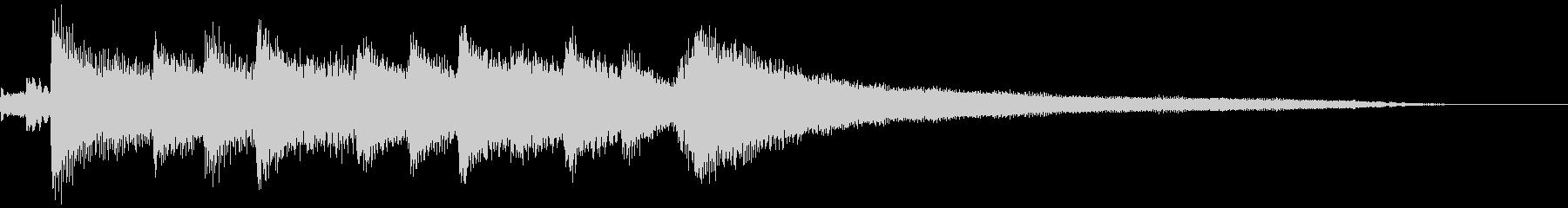 爽やかなピアノのジングルの未再生の波形
