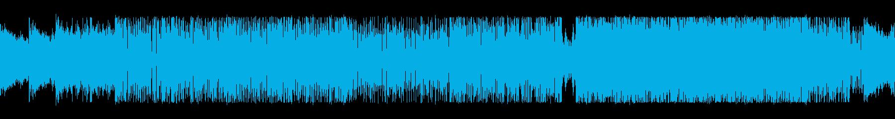 高速ドラムが駆け抜けるスリル満点のロックの再生済みの波形