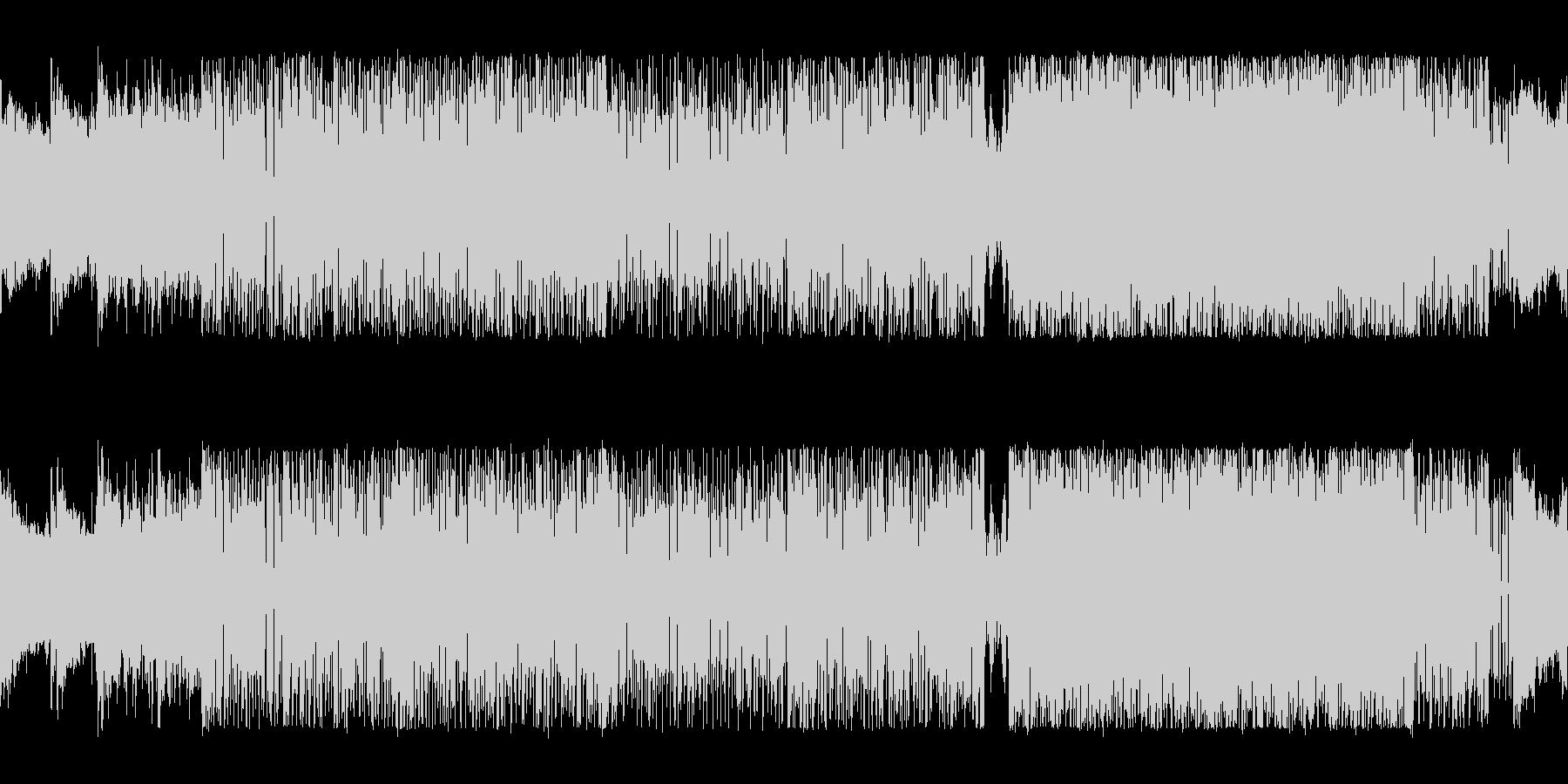 高速ドラムが駆け抜けるスリル満点のロックの未再生の波形