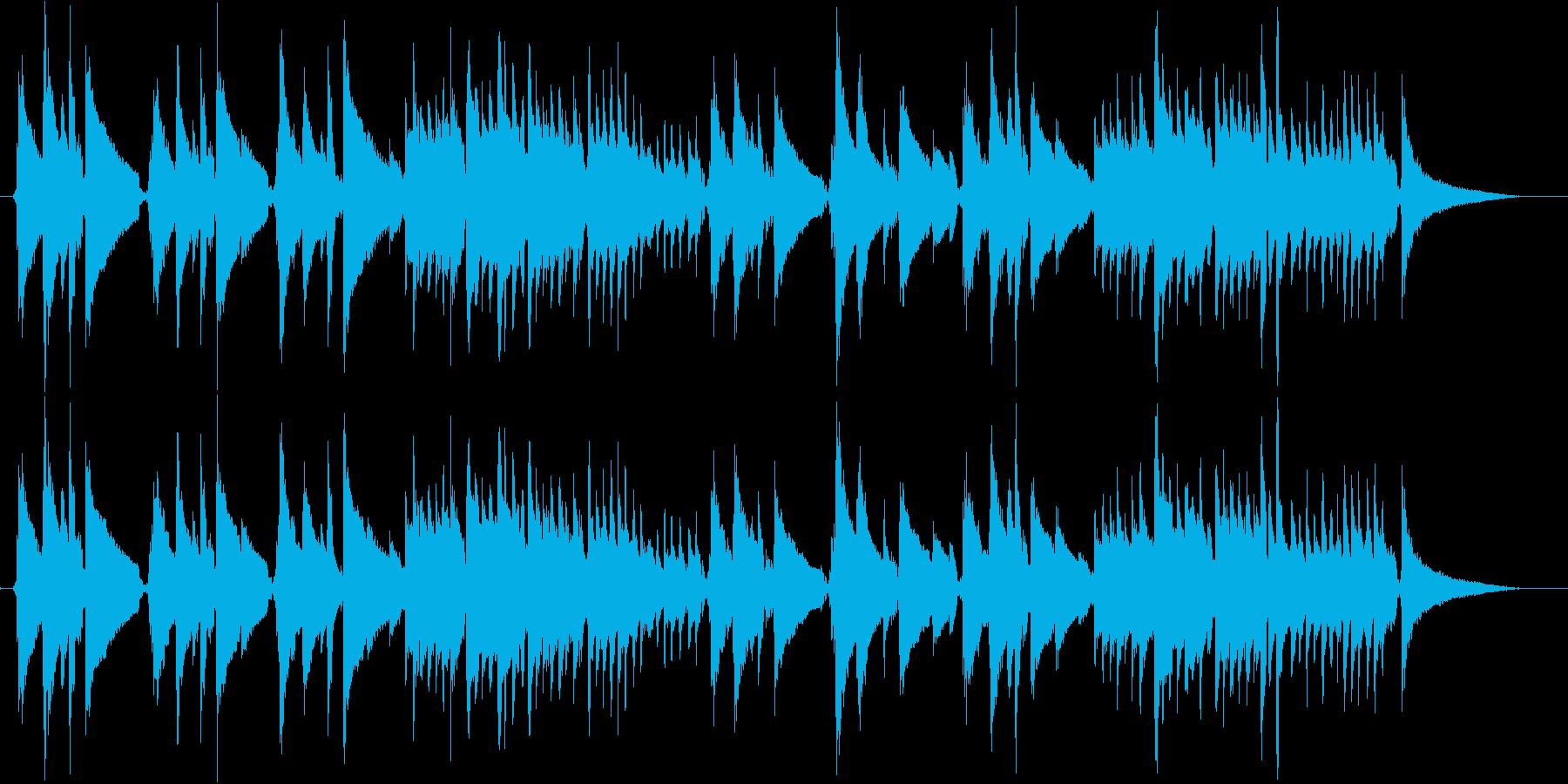アコギ演奏 柔らかな日差しのイメージの再生済みの波形