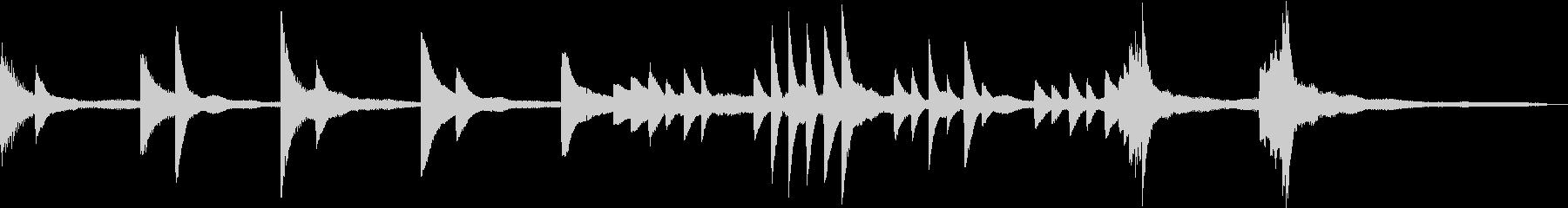 静寂と厳かを表現した和風ピアノジングルの未再生の波形