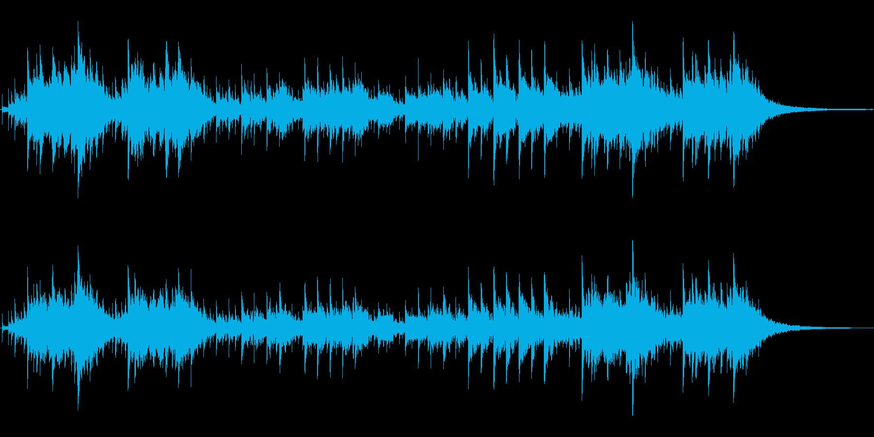 シンセの音色がかわいいジングルの再生済みの波形