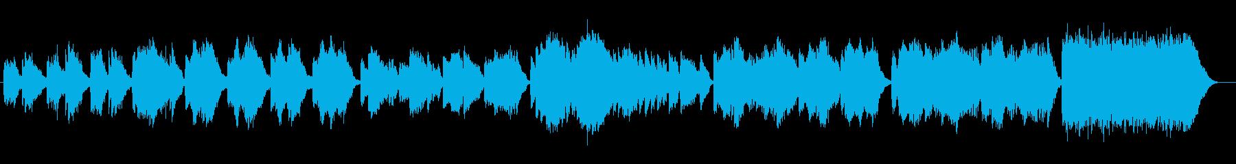 優しくゆったりなシンセサイザーサウンドの再生済みの波形