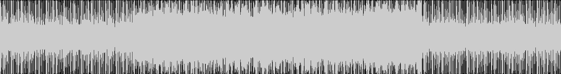 不気味さ、不穏さのあるBGMの未再生の波形