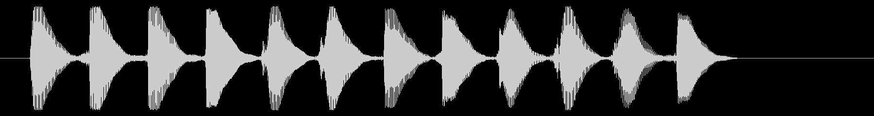 8ビット風システム音-16-3_dryの未再生の波形