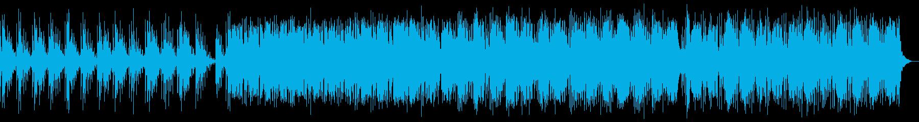 静かで美しいピアノ曲(効果音なし)の再生済みの波形
