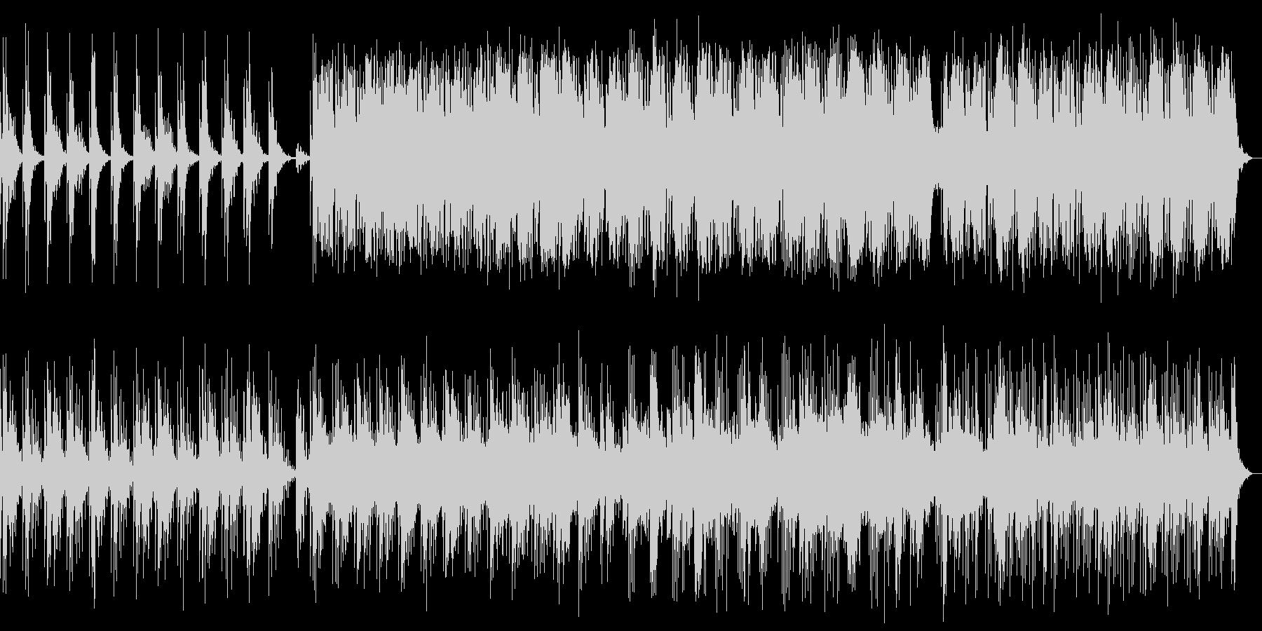 静かで美しいピアノ曲(効果音なし)の未再生の波形