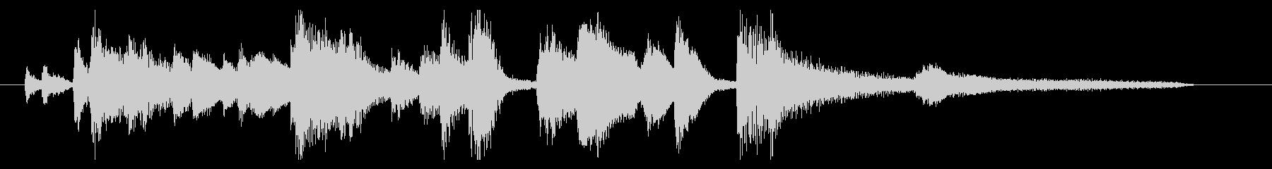 おしゃれなジャズピアノジングル4の未再生の波形