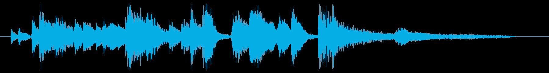 おしゃれなジャズピアノジングル4の再生済みの波形