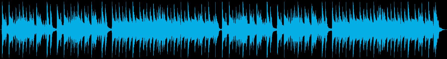 料理動画に最適なマリンバの再生済みの波形