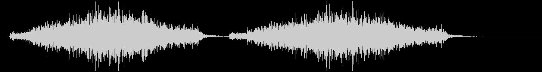黒板消しでチョークを消す(シャァッ×2)の未再生の波形