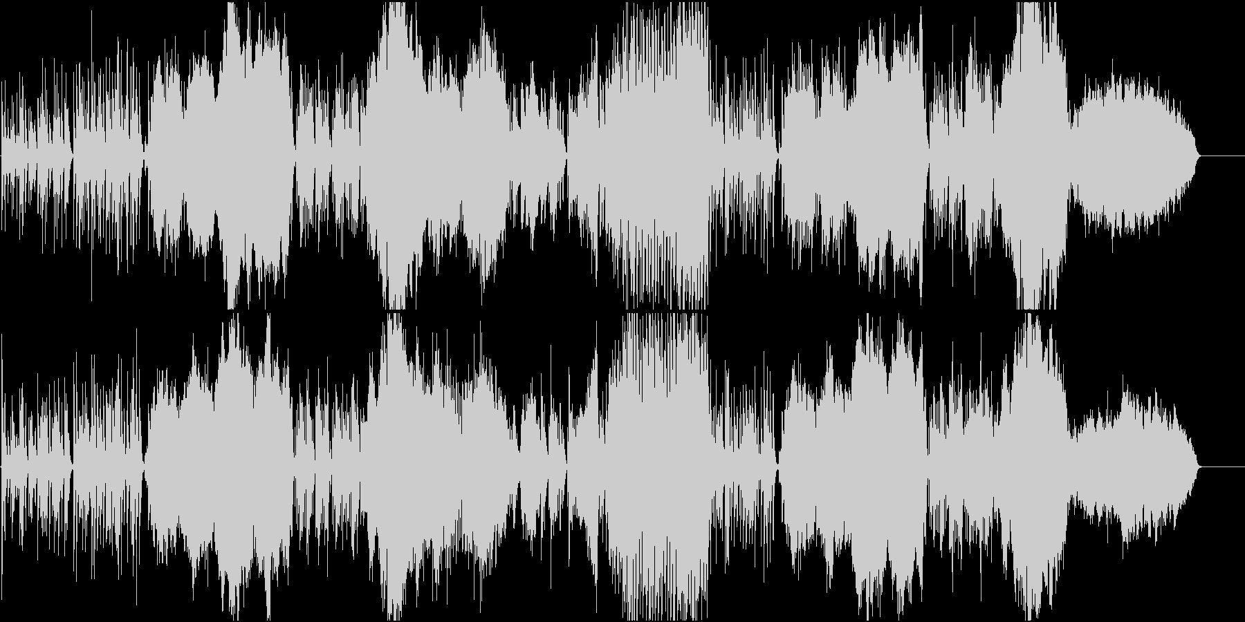 可愛らしくのどかなオーケストラの未再生の波形