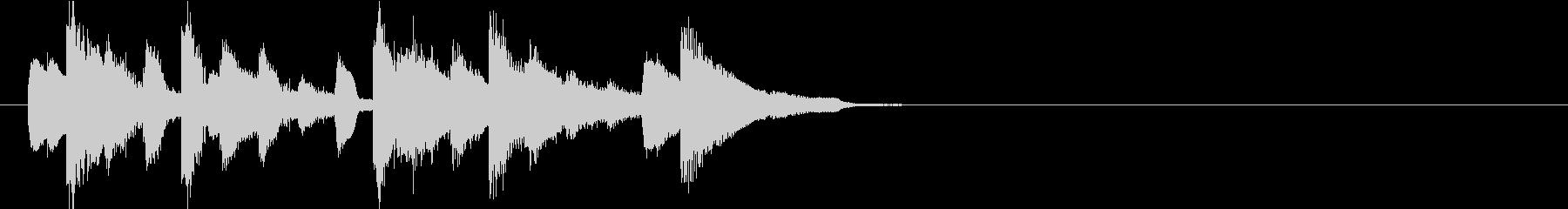 ポップでクラシカル、清らかなジングルの未再生の波形