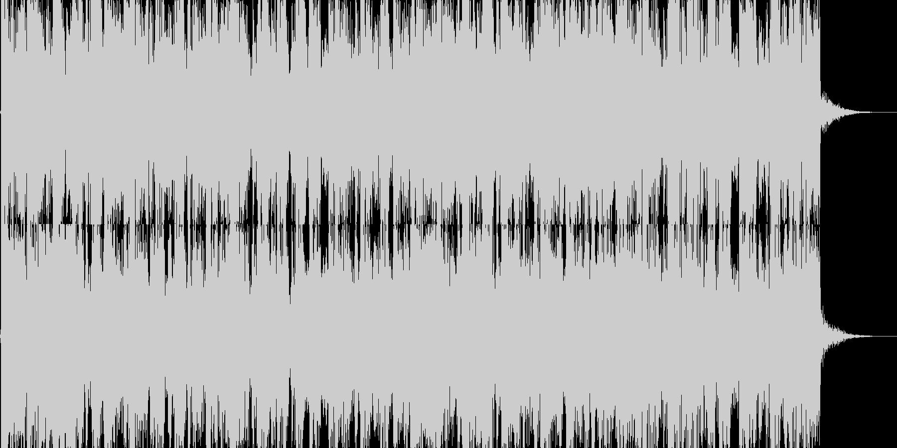 ポジティブなBGMです。の未再生の波形