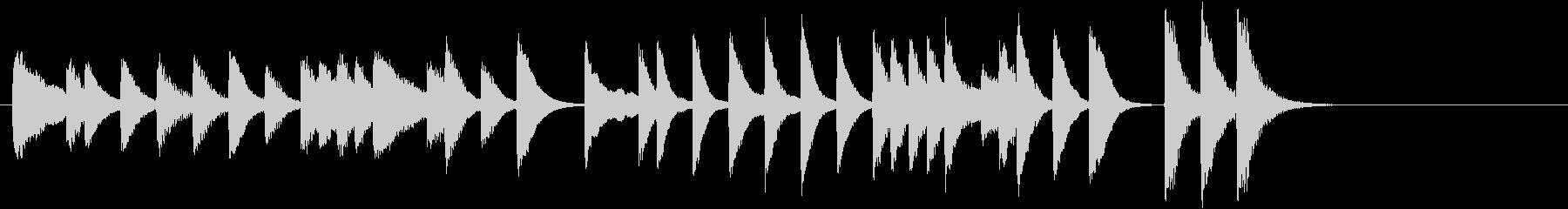 ひいらぎかざろうモチーフピアノジングルAの未再生の波形