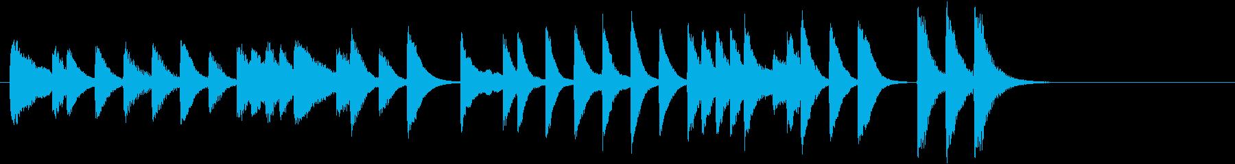 ひいらぎかざろうモチーフピアノジングルAの再生済みの波形