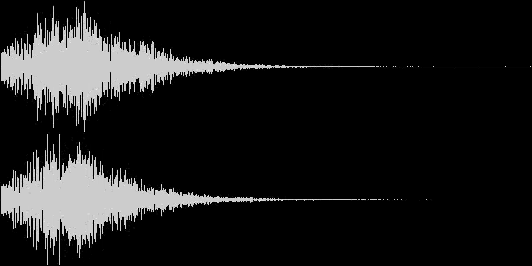 ボワーン ピョワーン ワープするような音の未再生の波形