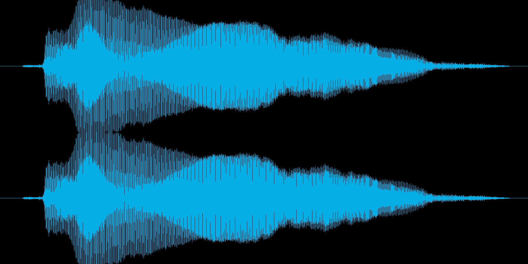 きゃー!(女の子の悲鳴)の再生済みの波形