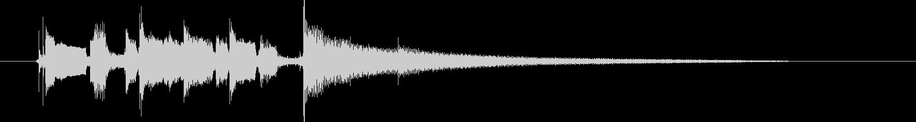 「締めジングル」の未再生の波形